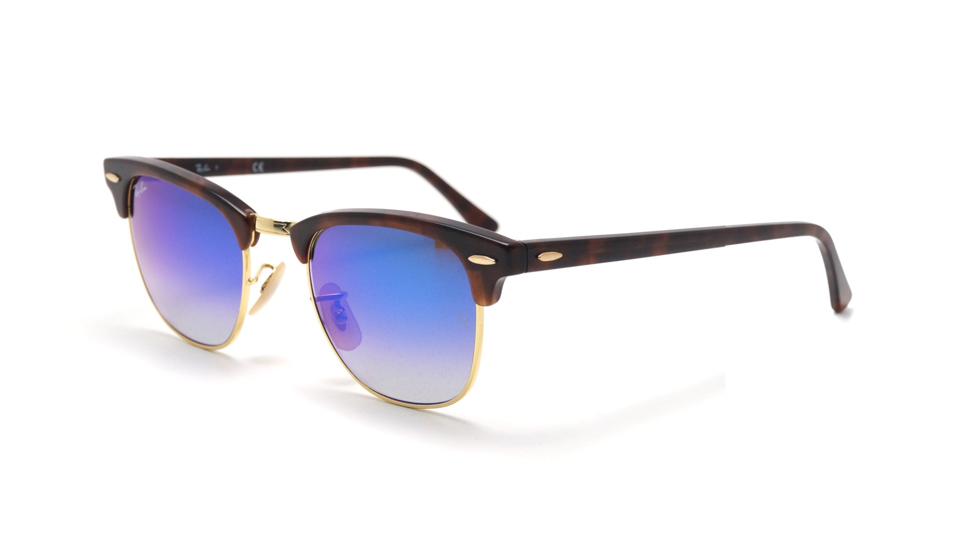 Sunglasses Ray-Ban Clubmaster Tortoise Flash lenses RB3016 990 7Q 49-21  Small Degraded Flash ad4bec4ca792