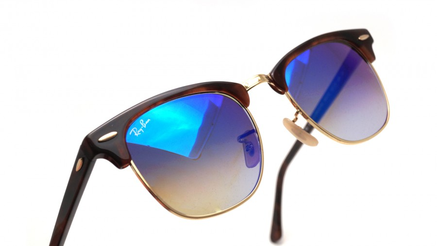 ray ban clubmaster tortoise blue