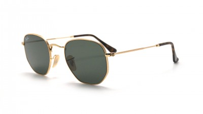 Ray-Ban Hexagonal Flat Lenses RB3548N 001 48-21 Gold