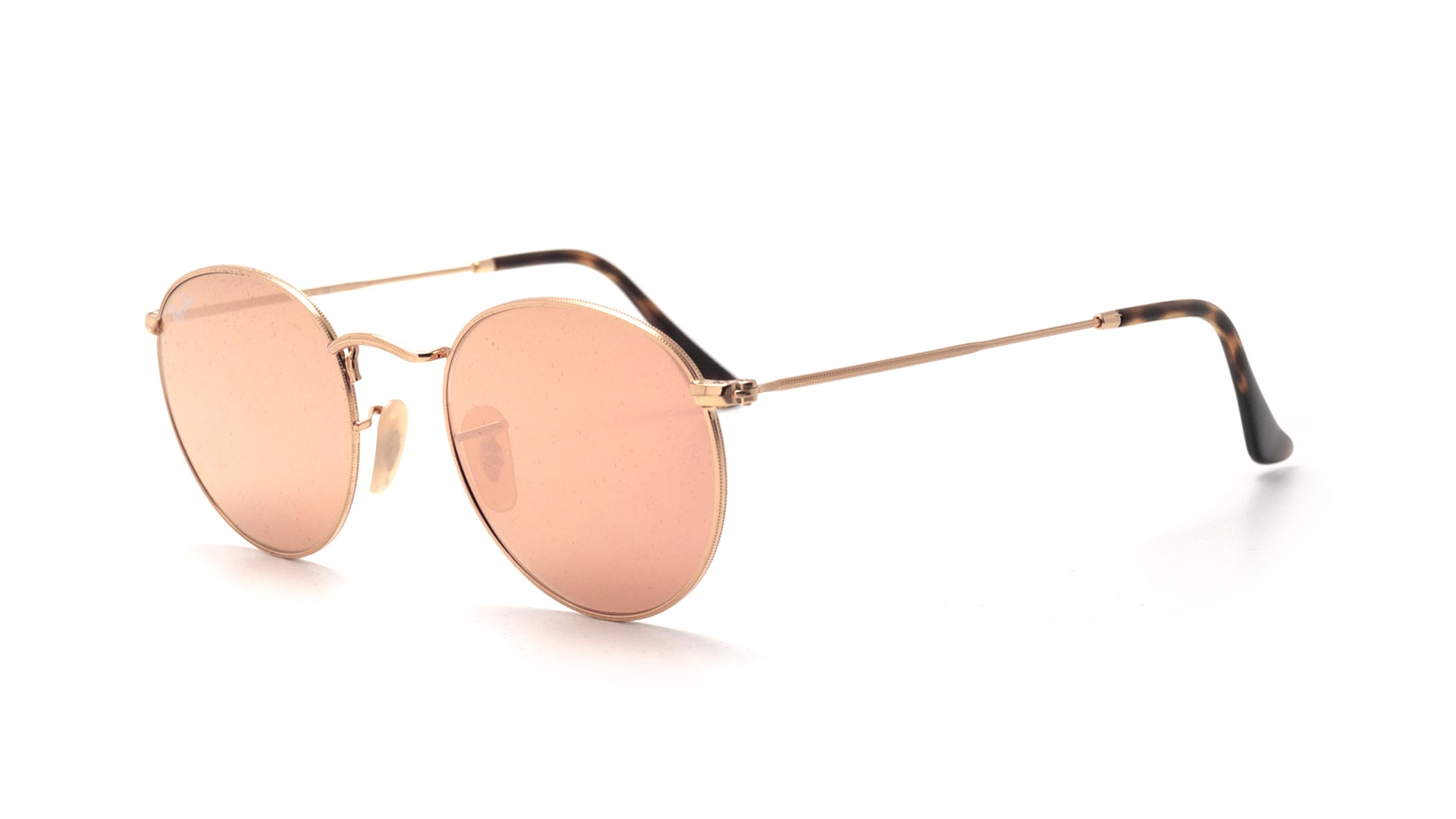 0280e273b35f18 Sonnenbrillen Ray-Ban Round Pink Shiny gold Metal RB3447N 001/Z2 50-21  Mittel