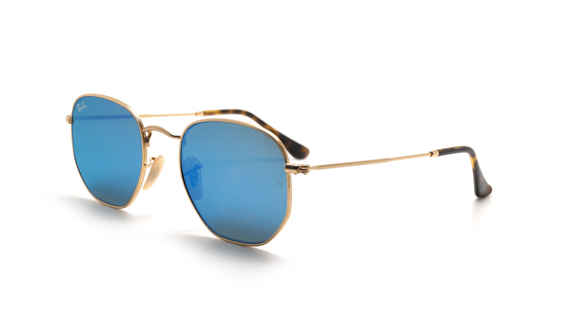44cd44c97eb Sunglasses Ray-Ban RB3548N 001 9O 51-21 Gold Medium Flash