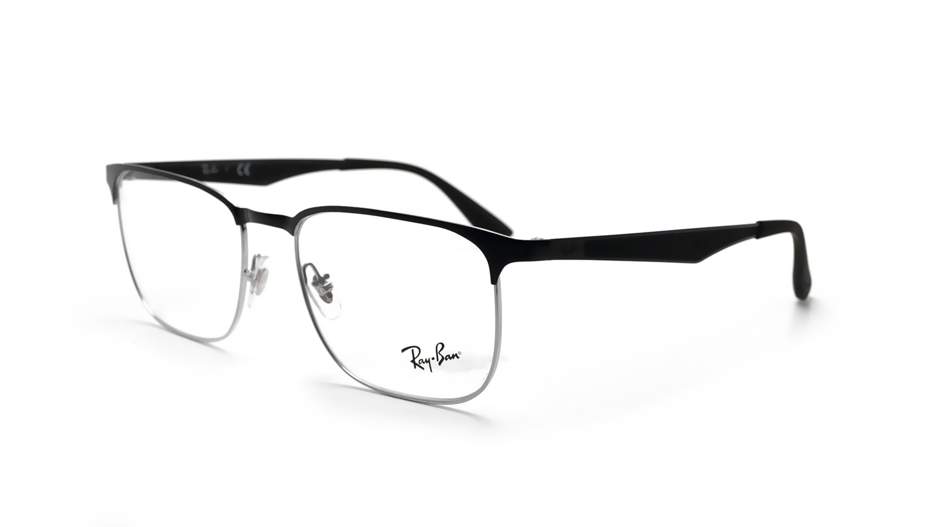 8bdef0fbe9 Lunettes de vue Ray-Ban Clubmaster Black RX6363 RB6363 2861 54-18 ...