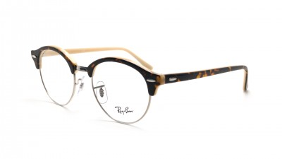72d7760f38608 Lunettes de vue Ray-Ban Clubround Havana opal peach RX4246 RB4246V 5239 49-  ...