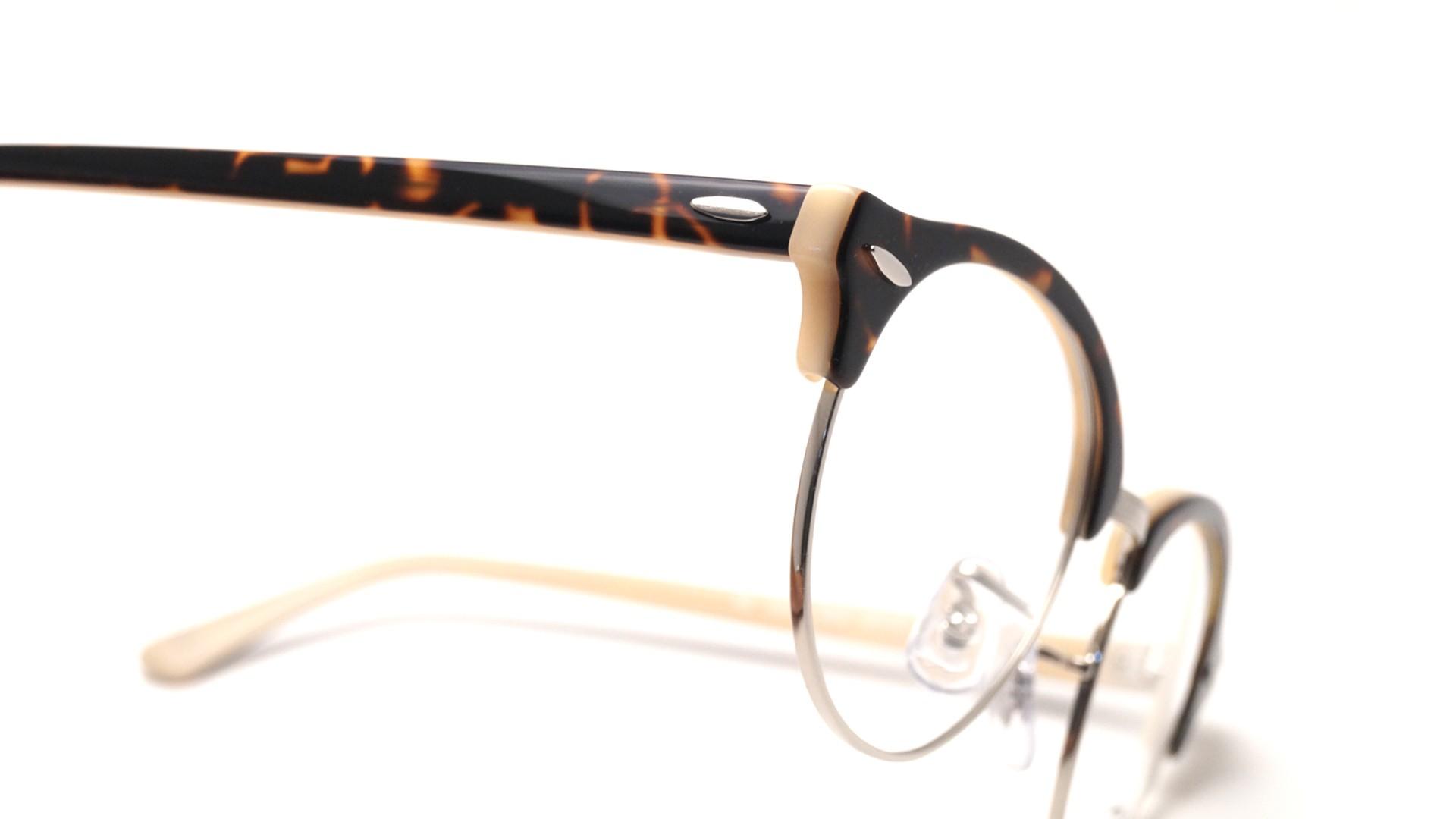 4d4d3edd5c Eyeglasses Ray-Ban Clubround Havana opal peach Tortoise RX4246 RB4246V 5239  49-19 Medium
