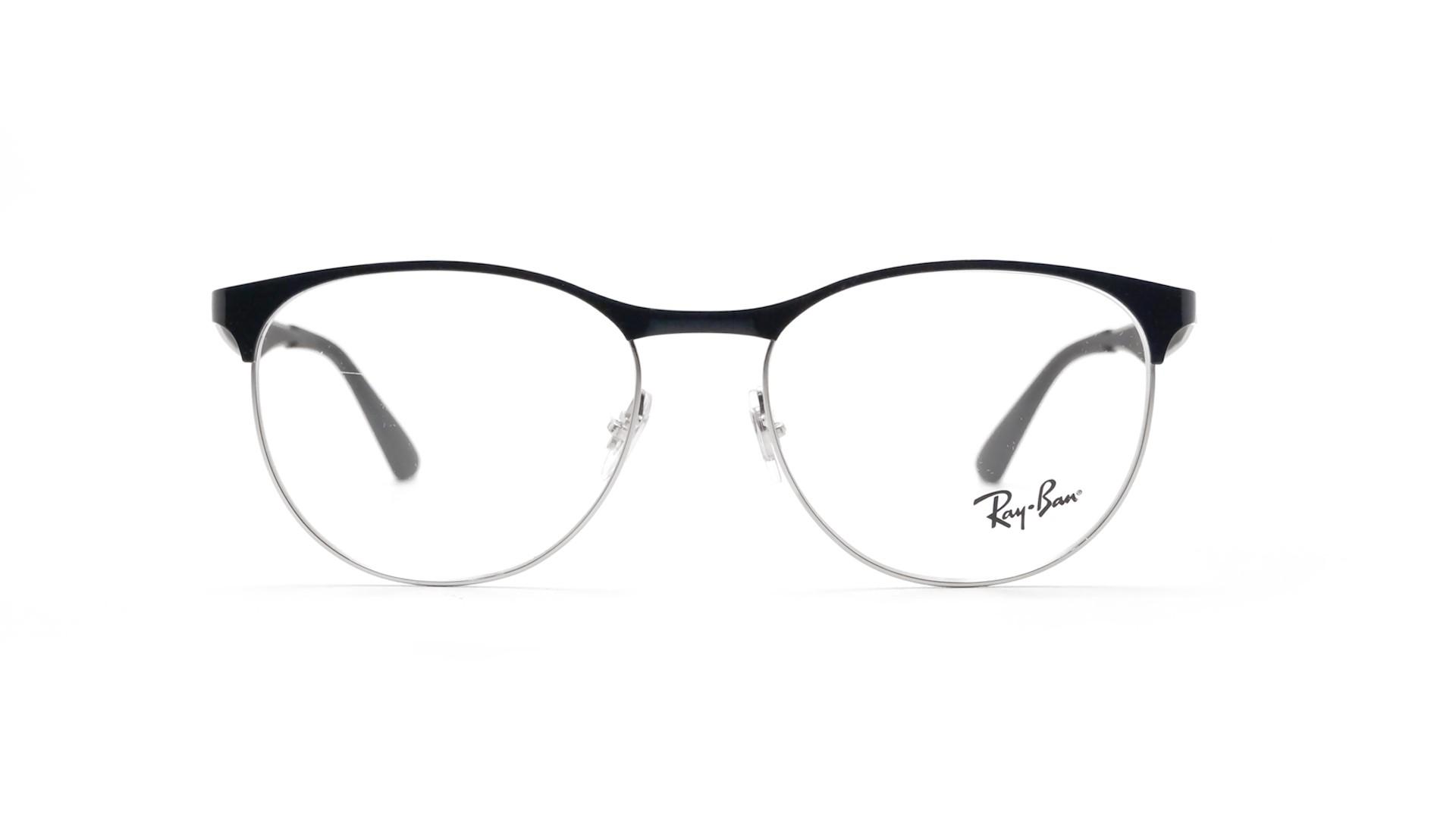 ffa9244ce4896 Eyeglasses Ray-Ban Clubmaster Silver black Black RX6365 RB6365 2861 53-17  Medium