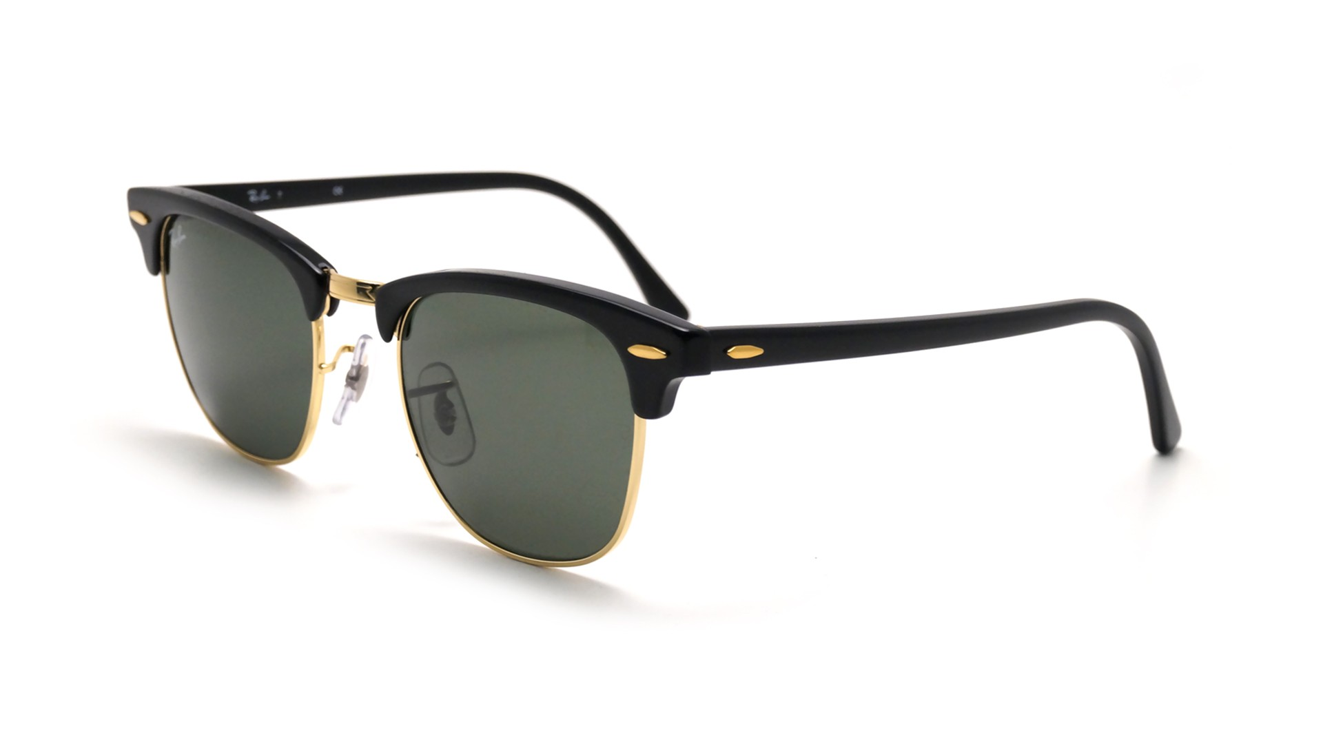 Lunettes de soleil Ray-Ban Clubmaster Classic Noir RB3016 W0365 49-21 Small 99275612e647