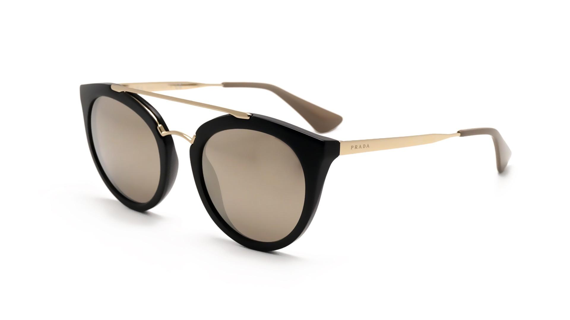 Sunglasses Prada PR23SS 1AB1C0 52-22 Black Medium Mirror be75bae903