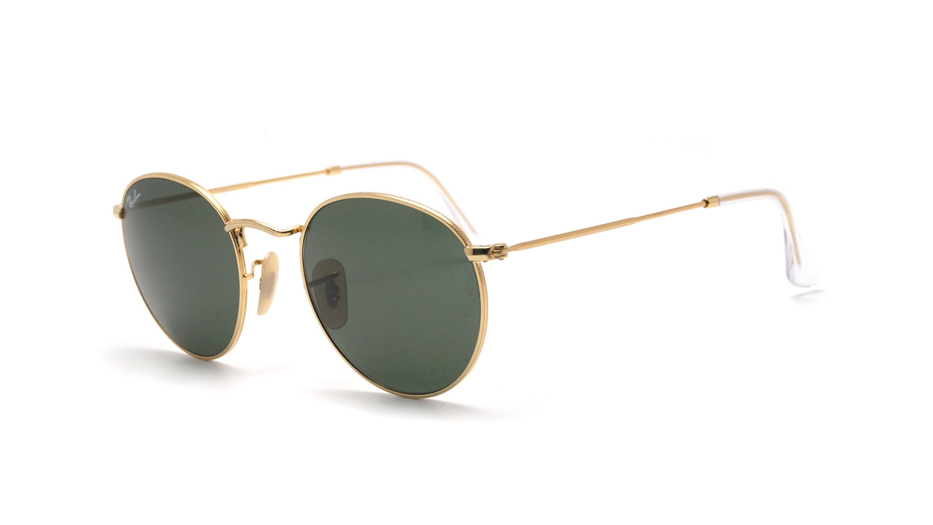 eb021bd70d5 Sunglasses Ray-Ban Round Metal Gold RB3447 001 47-21 Small