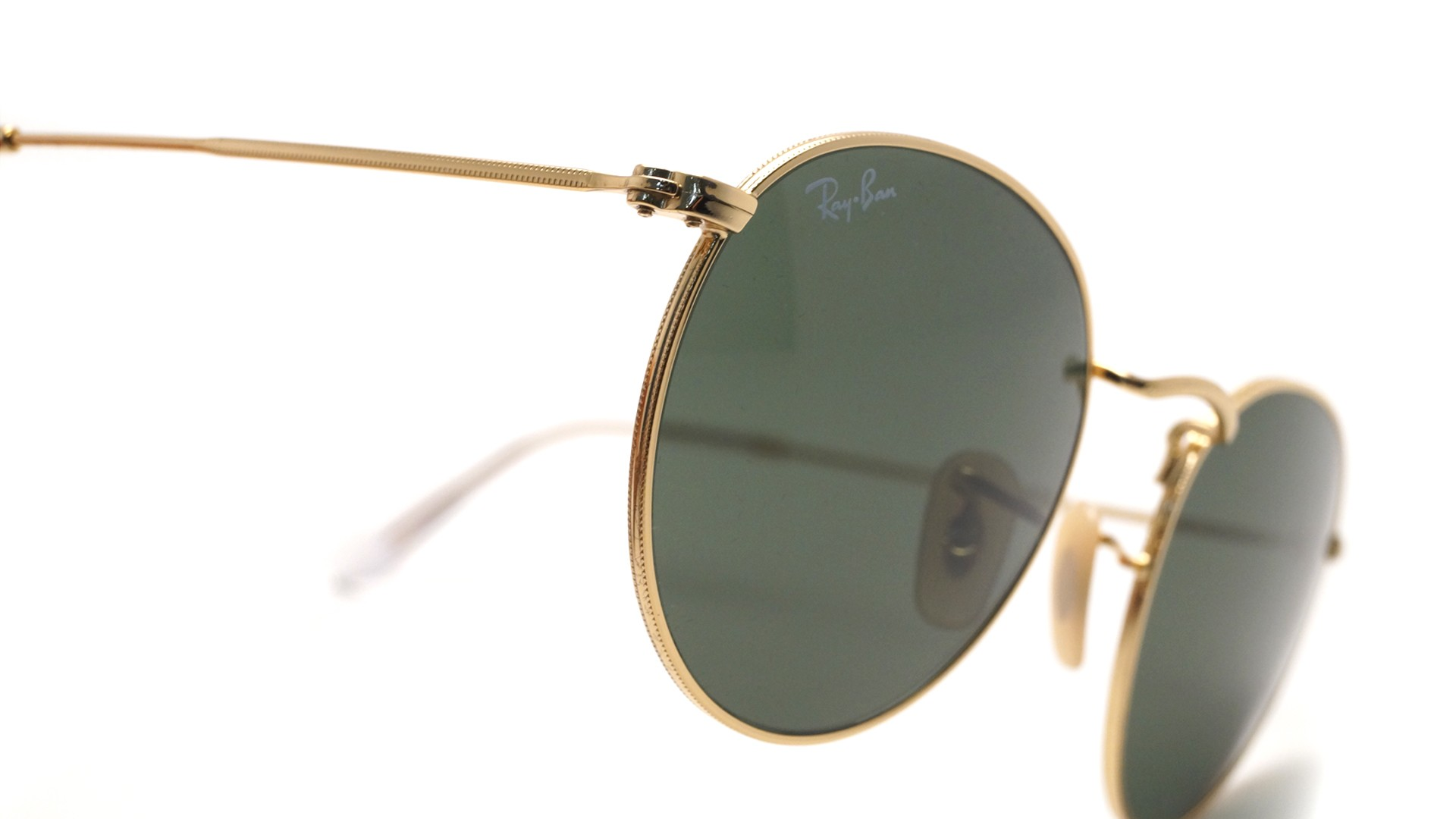 e9d909b03484d Sunglasses Ray-Ban Round Metal Gold RB3447 001 47-21 Small