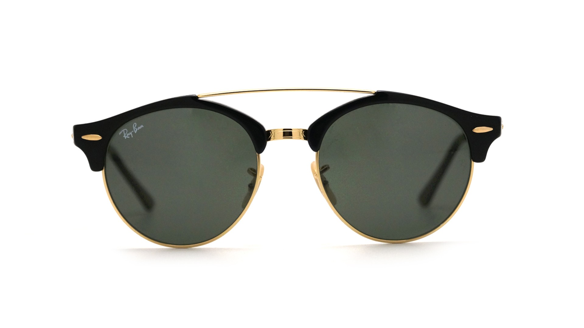 57e98c9daeb758 Sunglasses Ray-Ban Clubround double bridge Black RB4346 901 51-19 Medium