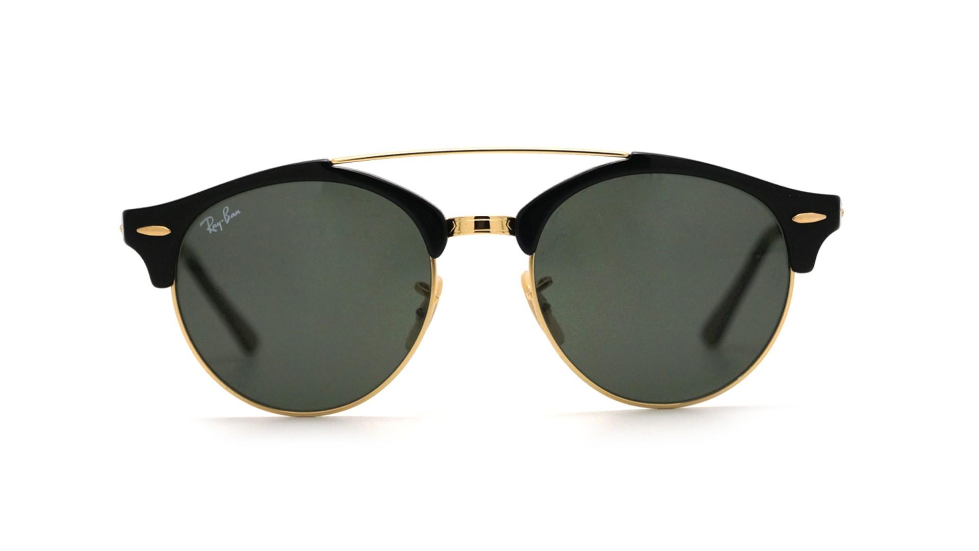 c3d1d57b5d Sunglasses Ray-Ban Clubround double bridge Black RB4346 901 51-19 Medium