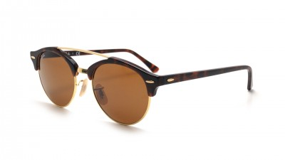 eb3b527f6137f2 Sunglasses Ray-Ban Clubround double bridge Tortoise RB4346 990 33 51-19  Medium