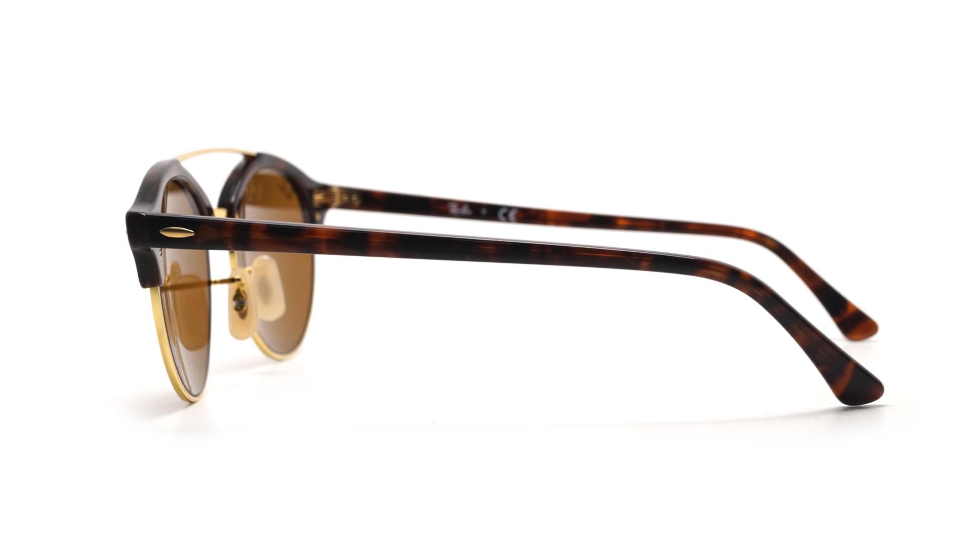 e4da903c51 Sunglasses Ray-Ban Clubround double bridge Tortoise RB4346 990 33 51-19  Medium