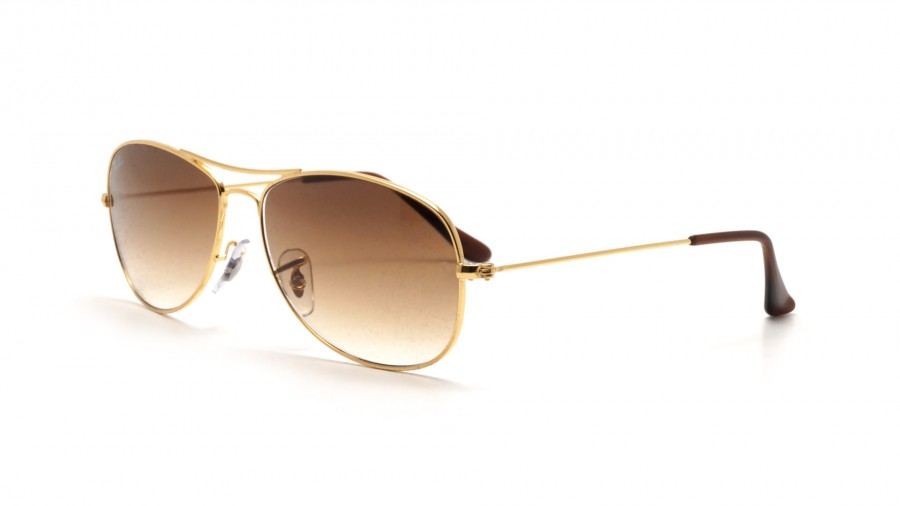 Sunglasses Ray-Ban Cockpit Gold RB3362 001 51 56-14 Large Gradient a9835d2e3