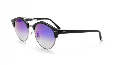 e72193c4190 Sunglasses Ray-Ban Clubround double bridge Black RB4346 62507Q 51-19 Medium  Gradient Mirror