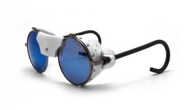 304fffc4064 Julbo Vermont Classic Gun Silver J010 11 21 white leather shell Blue Lenses  51-23 Medium Flash
