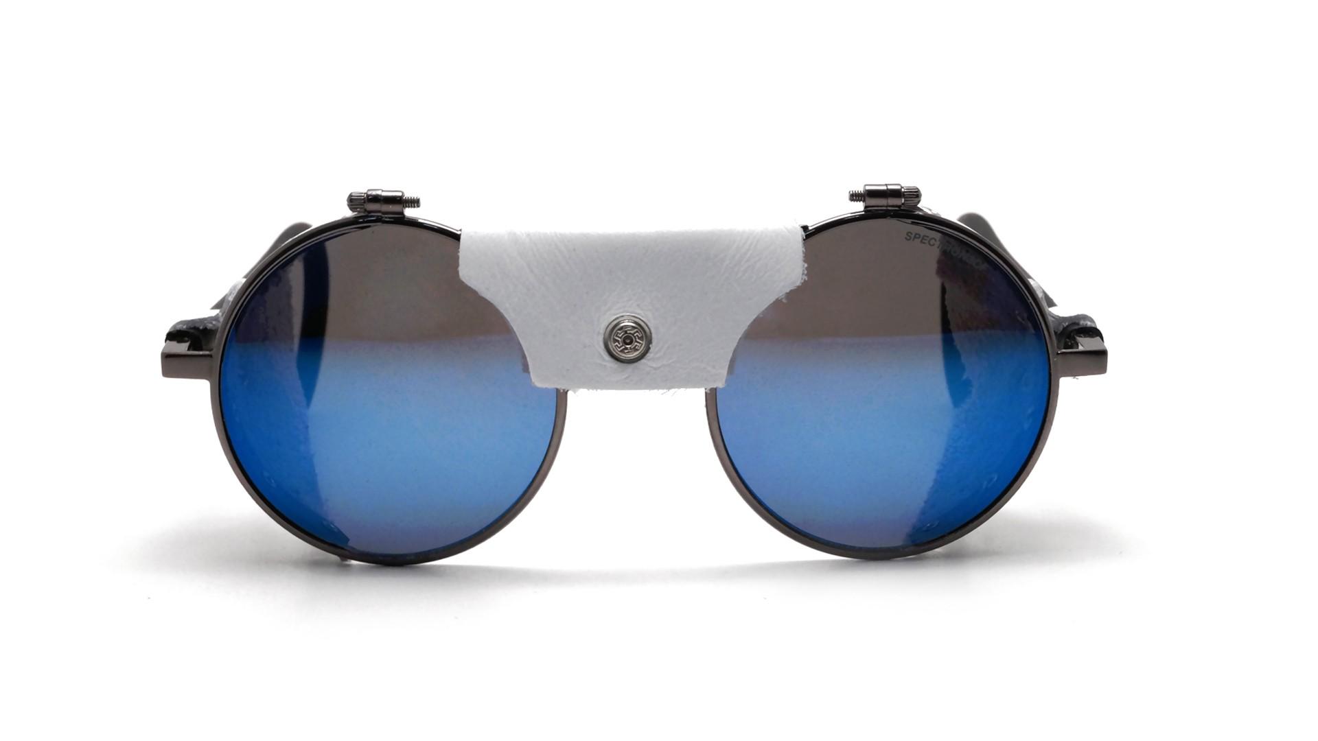 7b0667fc2b69a Sunglasses Julbo Vermont Classic Gun Silver J010 11 21 white leather shell  Blue Lenses 51-23 Medium Flash