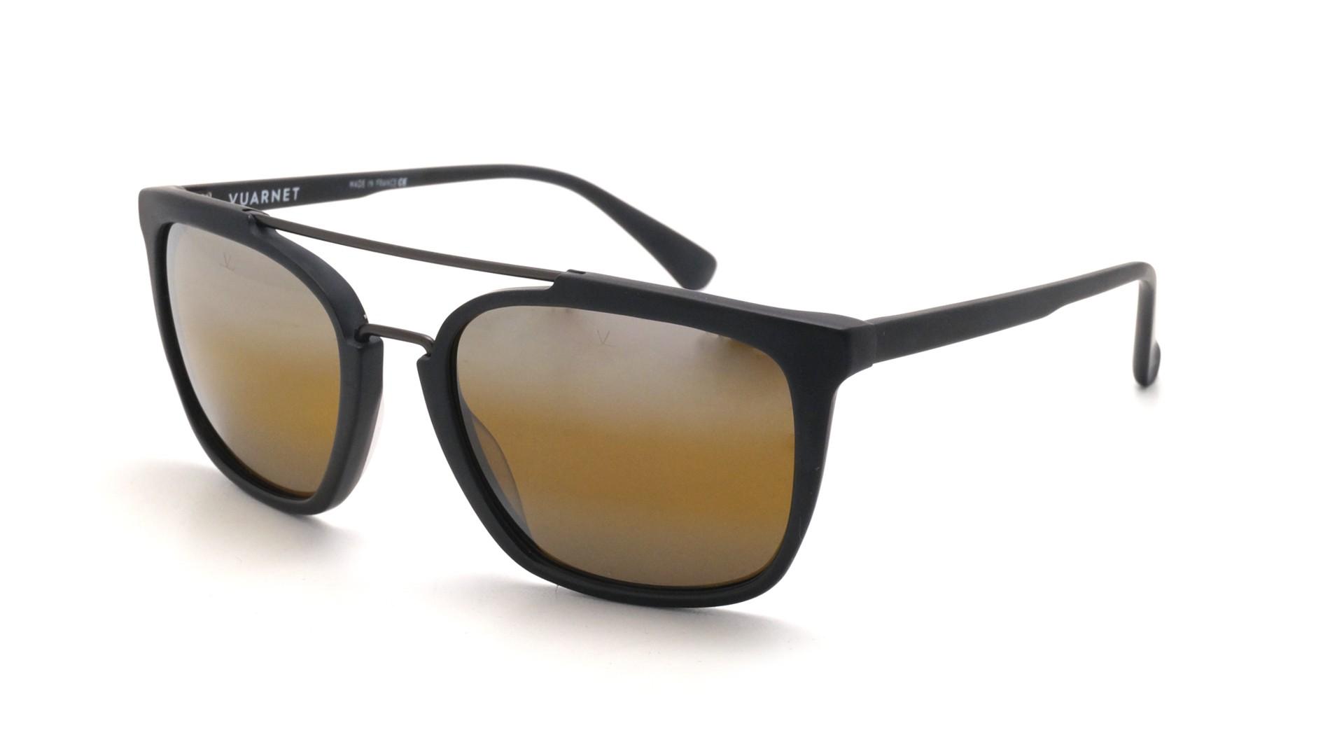 d4b53e2c600d Sunglasses Vuarnet Cable car rectangle Black Matte Skilynx VL1601 0002  55-18 Medium Gradient Mirror