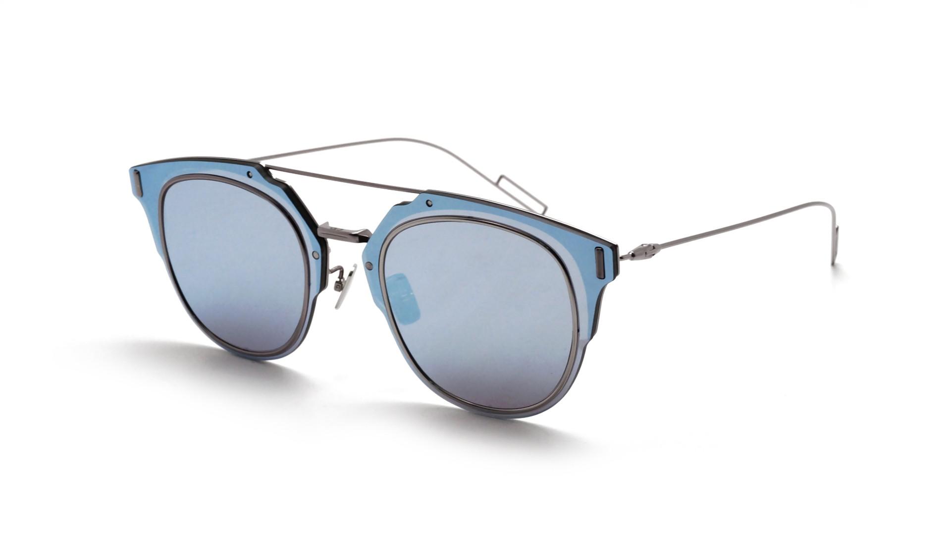 d37a56cc42 Lunettes de soleil Dior Composit Bleu 1.0 6LBA4 62-12 Large Miroirs