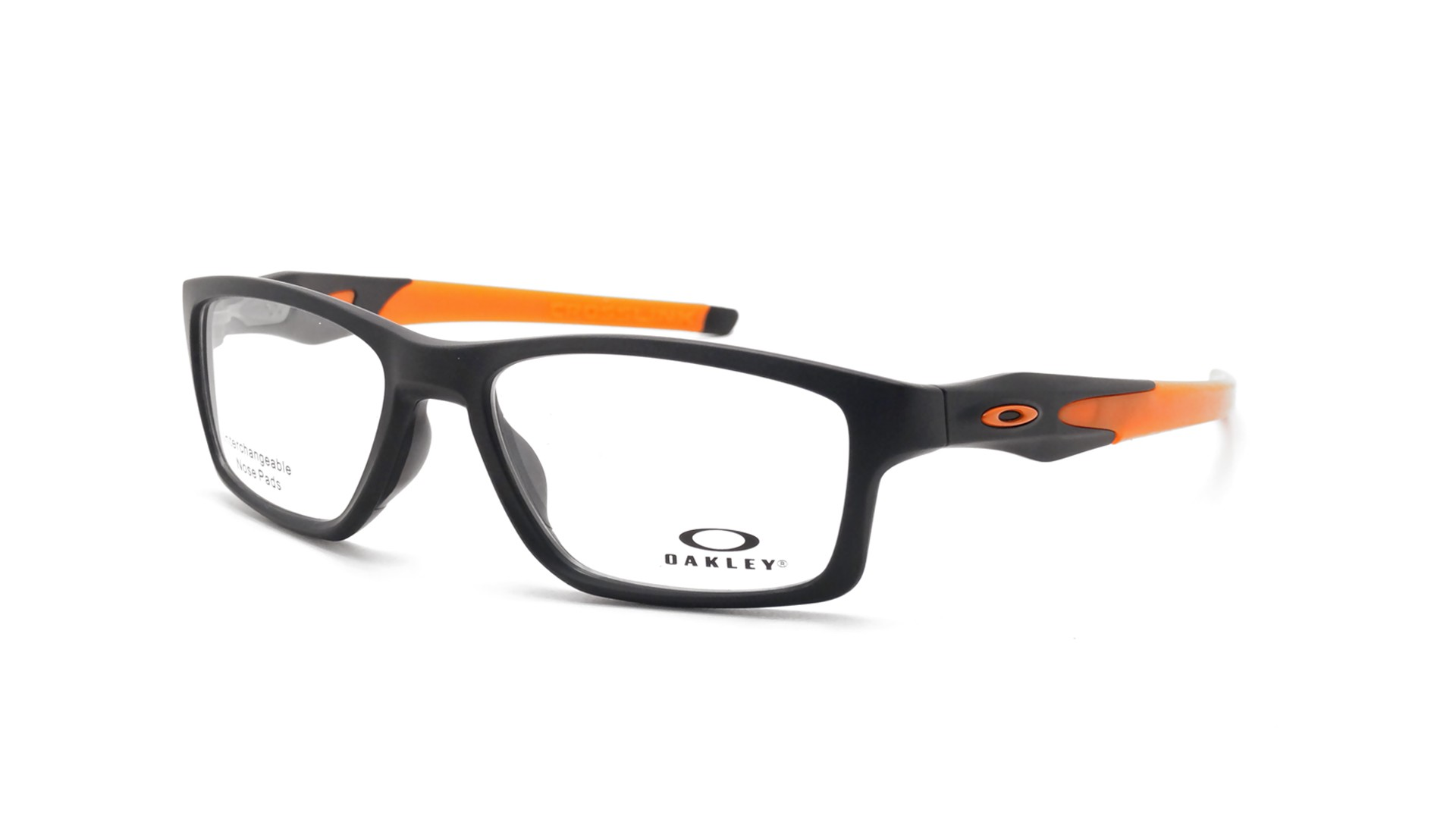 4c94cd93527 Eyeglasses Oakley Crosslink mnp Satin black Tru bridge Black Matte OX8090 01  55-17 Medium