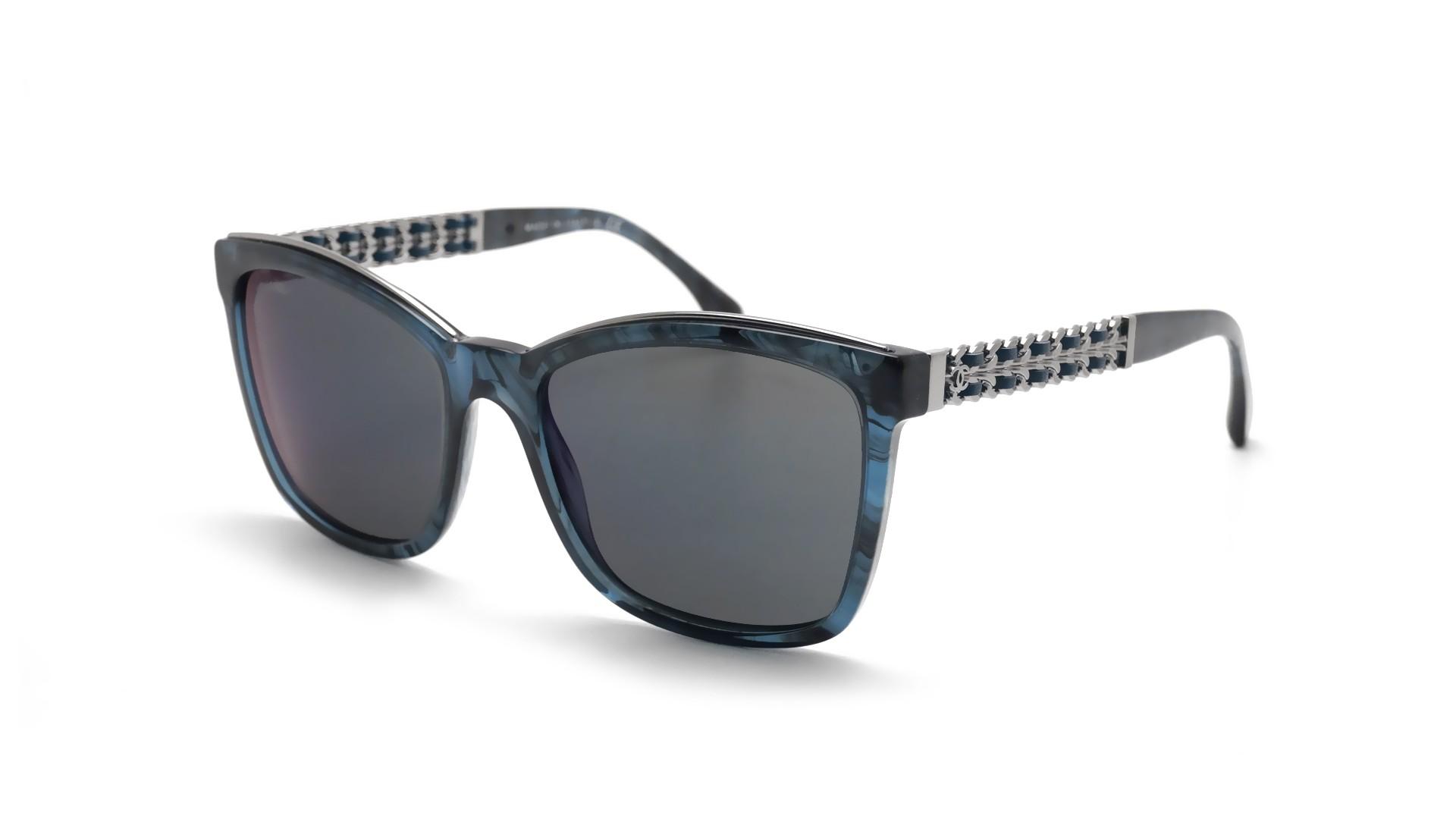 8ab4d7f05c1c3 Lunettes de soleil Chanel Chaîne Bleu CH5360Q 1570Z6 55-18 Medium