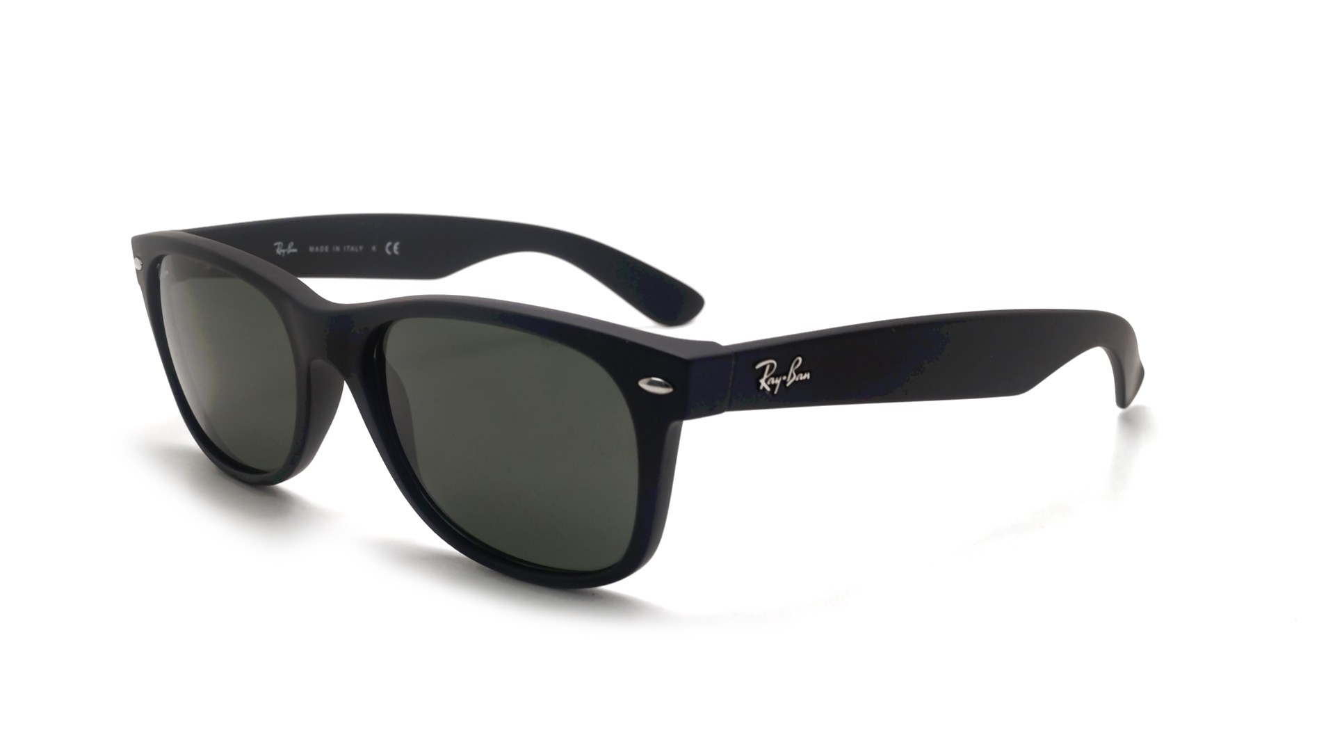 c71b4bf4366 Sunglasses Ray-Ban New Wayfarer Black Matte RB2132 622 52-18 Medium