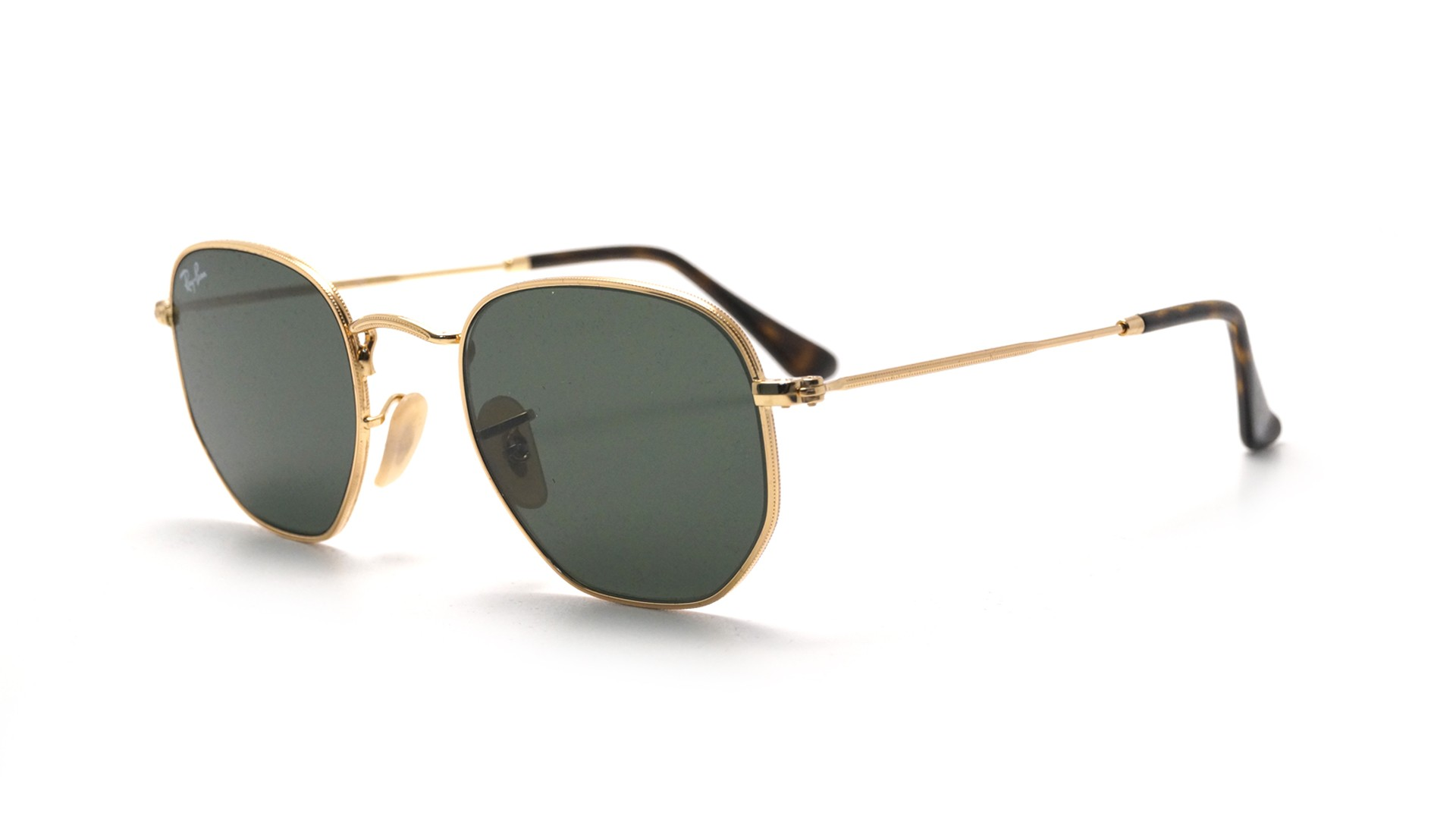 cab30af64c Ray-Ban Hexagonal Flat Lenses RB3548N 001 51-21 Gold | Visiofactory