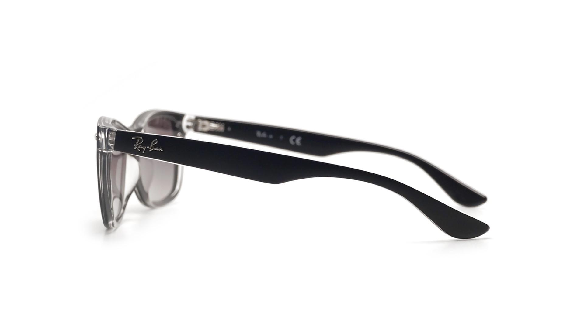 Sunglasses Ray-Ban Wayfarer Black Matte RJ9052S 7022 11 48-16 Junior  Gradient fbcab7b57447