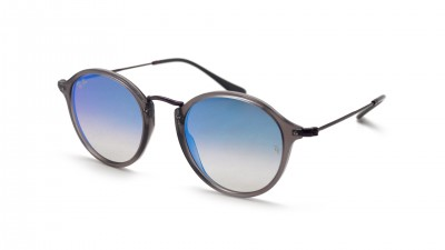 ec11e41b14667 Sunglasses Ray-Ban Round Fleck Flat Lenses Blue RB2447N 6255 4O 49-21  Medium Gradient Flash