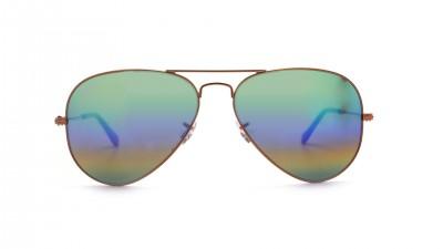 Ray-Ban Aviator Large Metal Rainbow Or Mat RB3025 9018/C3 58-14