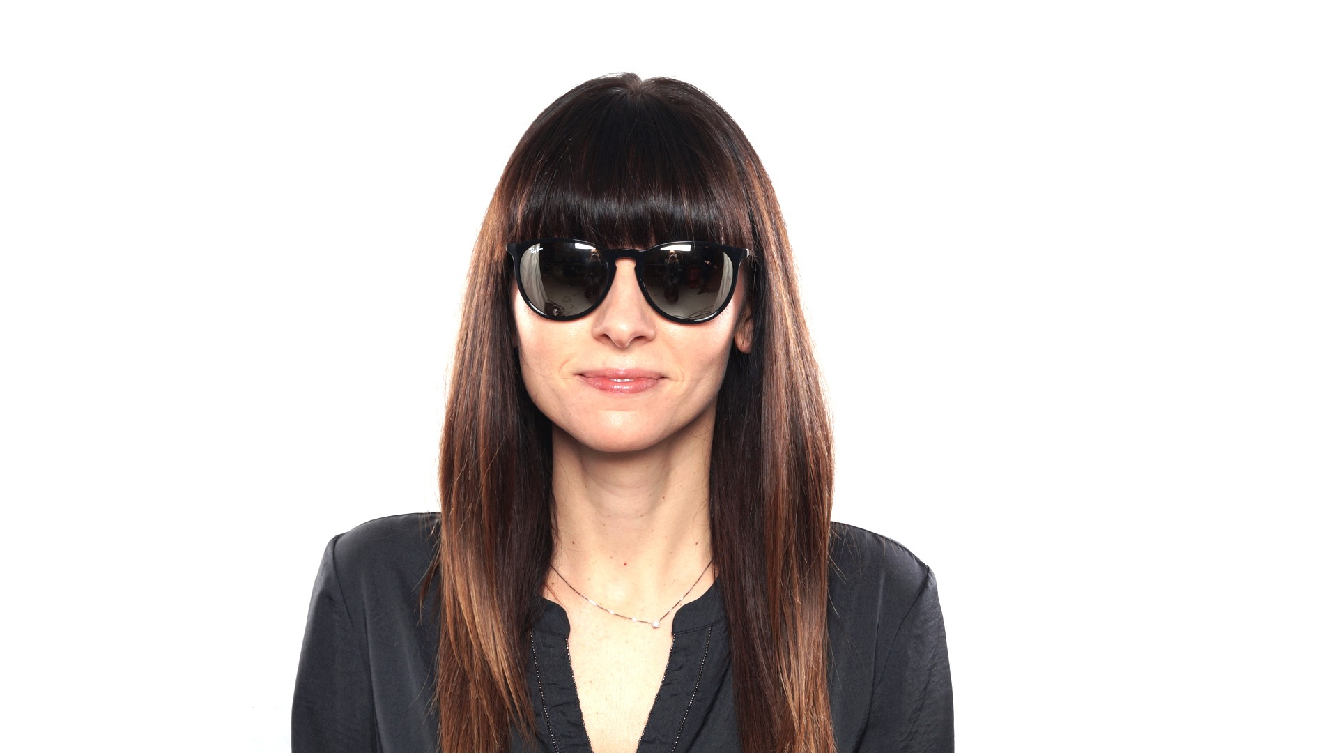 Sunglasses Ray-Ban Erika Black RB4171 601 5A 54-18 Medium Mirror 15ab7e4d84
