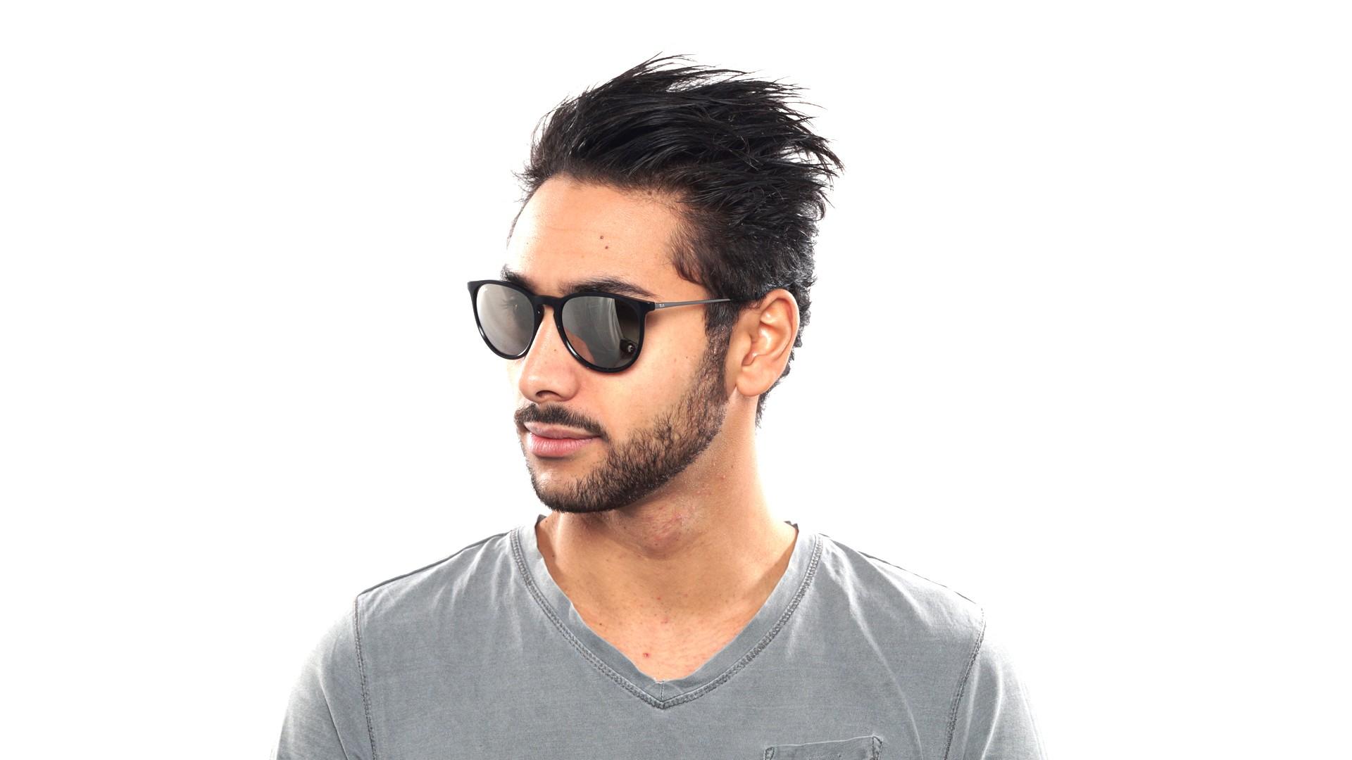 601b99e565e57 Sunglasses Ray-Ban Erika Black RB4171 601 5A 54-18 Medium Mirror