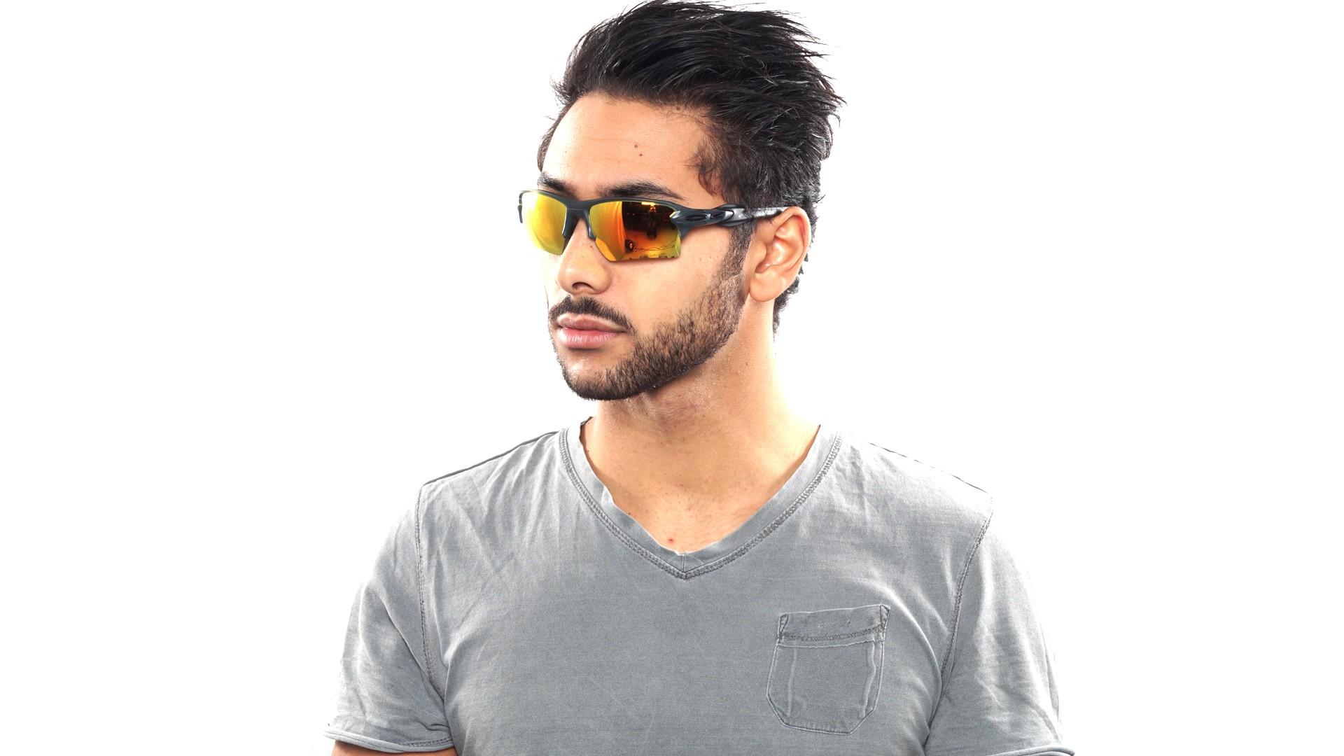 Sunglasses Oakley Flak 2.0 Xl Grey OO9188 10 59-12 Medium Polarized Flash 85fa35beb