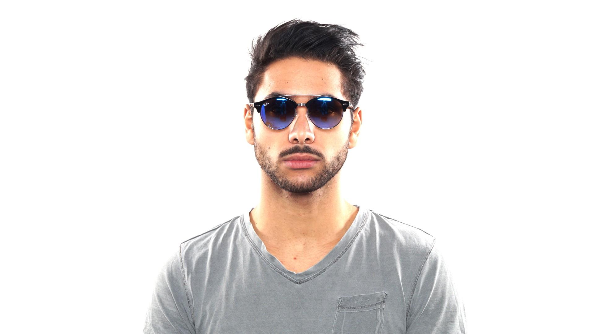 Sunglasses Ray-Ban Clubround double bridge Black RB4346 62507Q 51-19 Medium  Gradient Mirror 3817f73c06d4