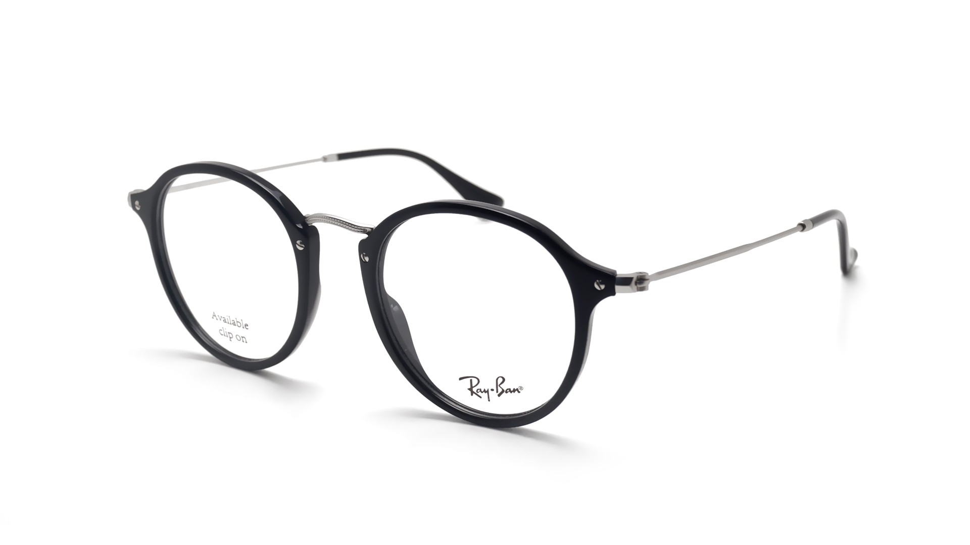 57e3a419a2 Eyeglasses Ray-Ban Round Fleck Black RX2447 RB2447V 2000 49-21 Medium