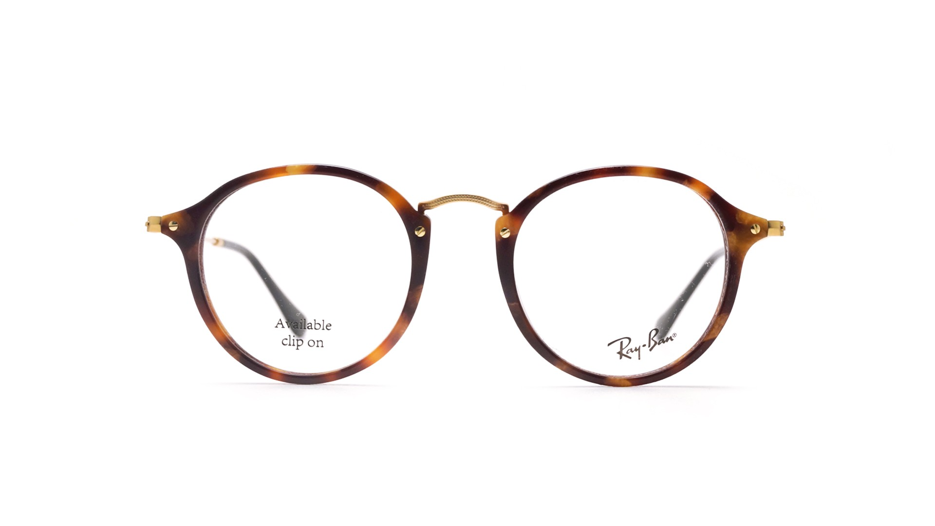 49c804fb1 Eyeglasses Ray-Ban Round Fleck Tortoise RX2447 RB2447V 5494 49-21 Medium
