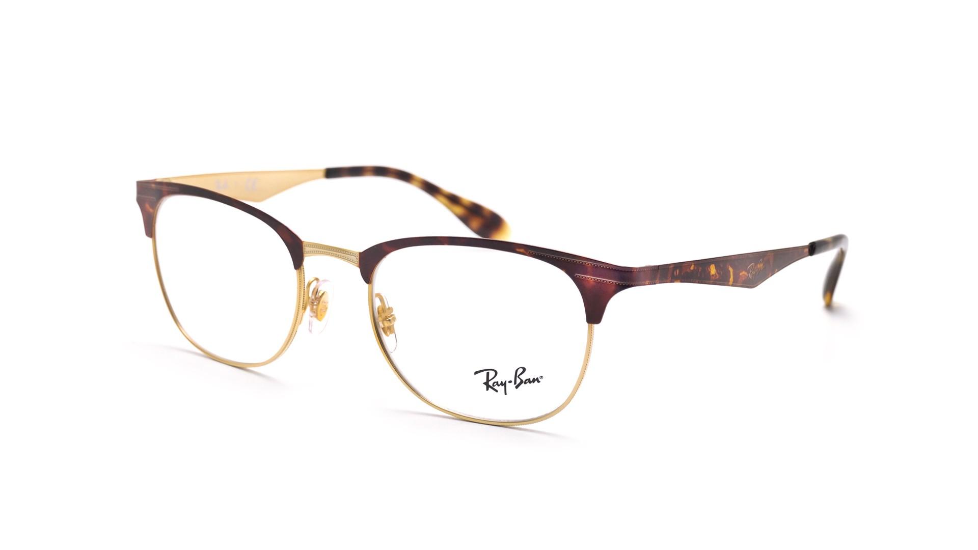 e65ebedcbe Eyeglasses Ray-Ban Clubmaster Tortoise RX6346 RB6346 2917 50-19 Medium