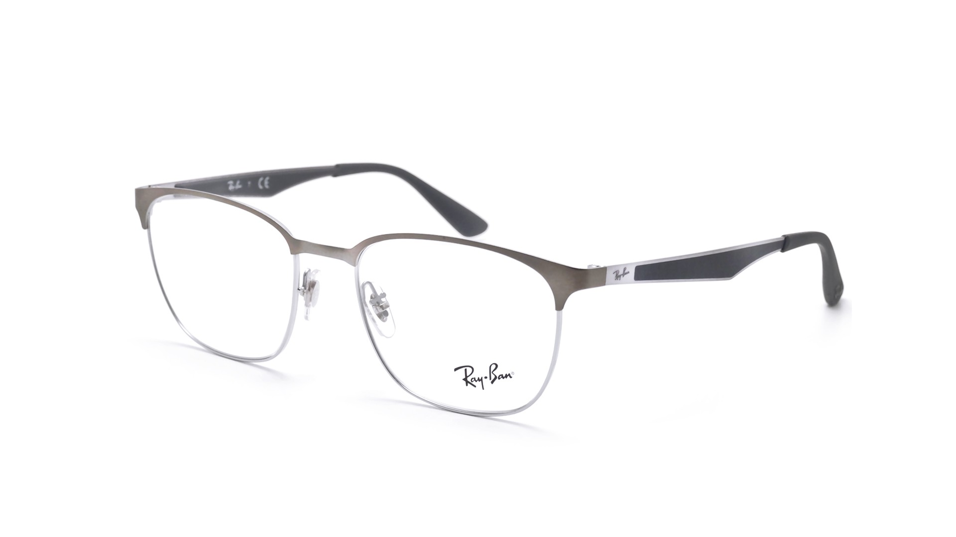 51efb59bbc6 Eyeglasses Ray-Ban Clubmaster Silver Mat RX6356 RB6356 2874 52-18 Large