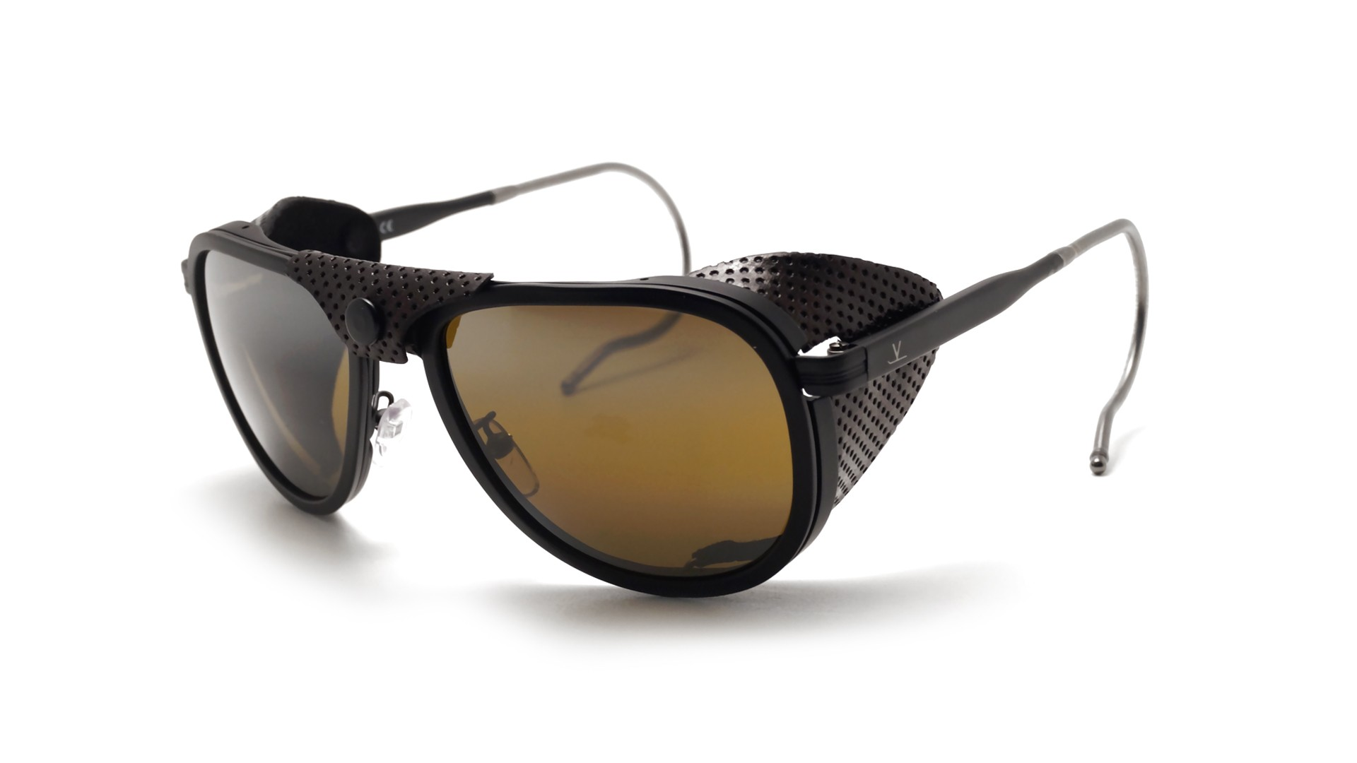 db05fb2476 Sunglasses Vuarnet Glacier 1957 Black Matte VL1315 0010 57-17 Skilynx  Medium Mirror