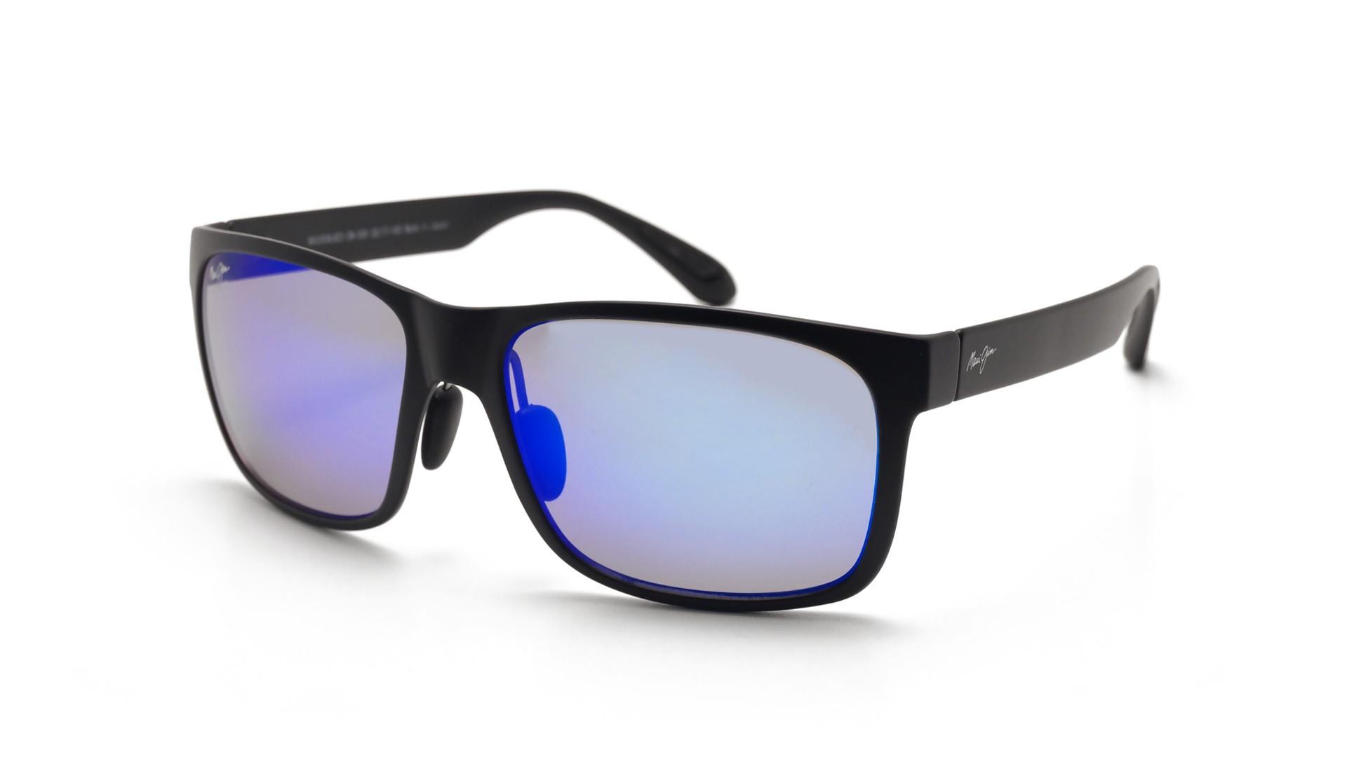 70913927de Sunglasses Maui Jim Red Sands Black Mat B432 2M 59-17 Large Polarized Flash