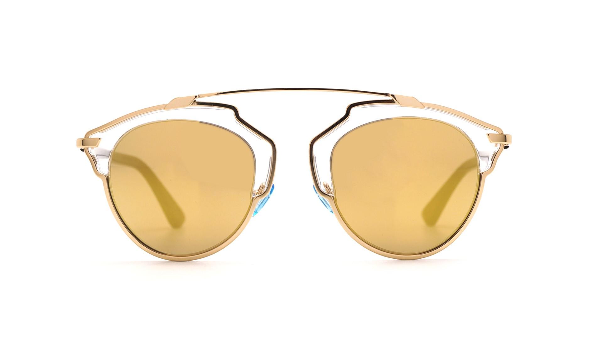 b500459a21 Lunettes de soleil Dior Soreal Or U5SK1 48-22 Medium Miroirs