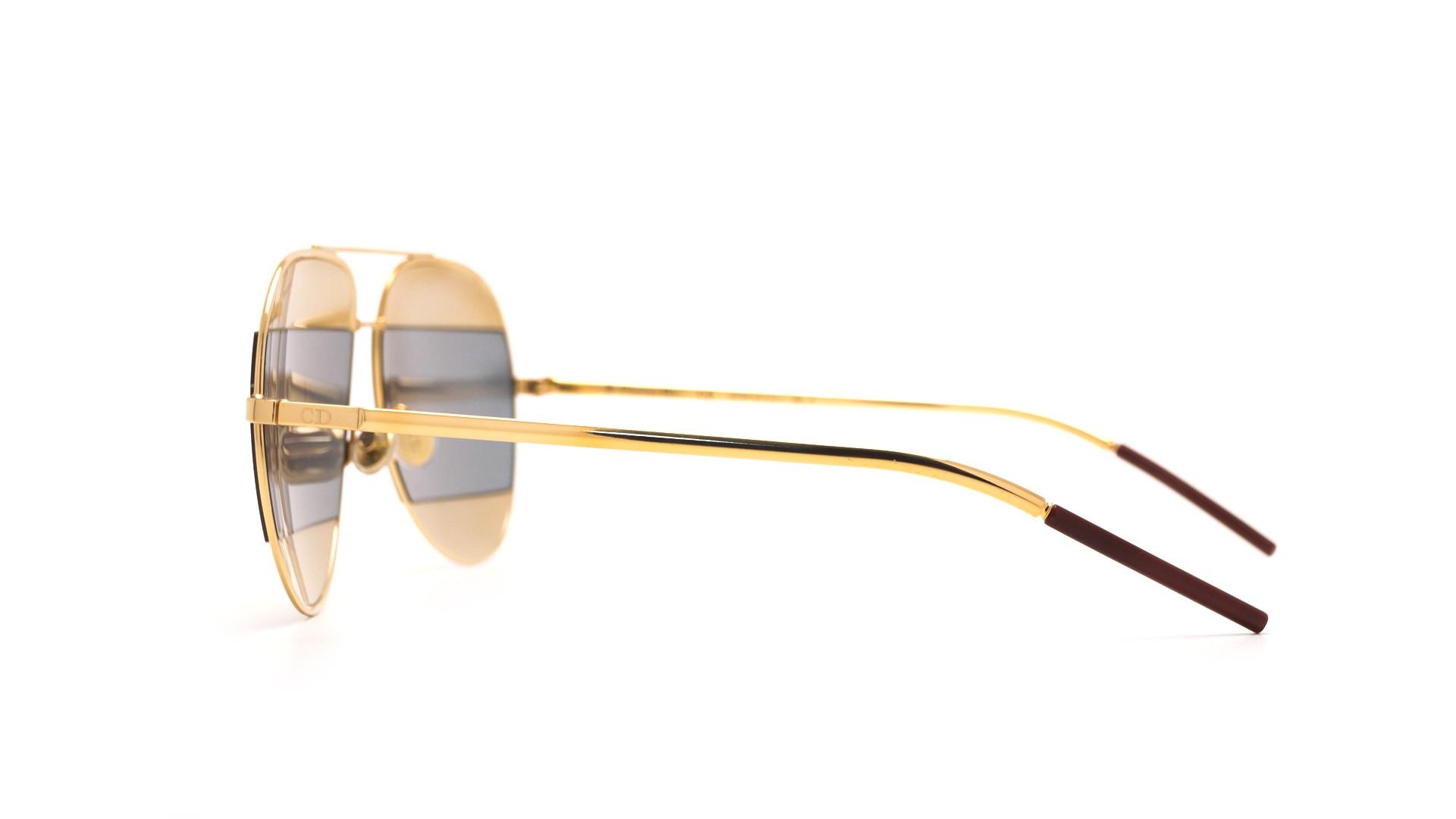 9551ec435e3 Sunglasses Dior Split 1 Gold SPLIT1 0000J 59-14 Large Flash