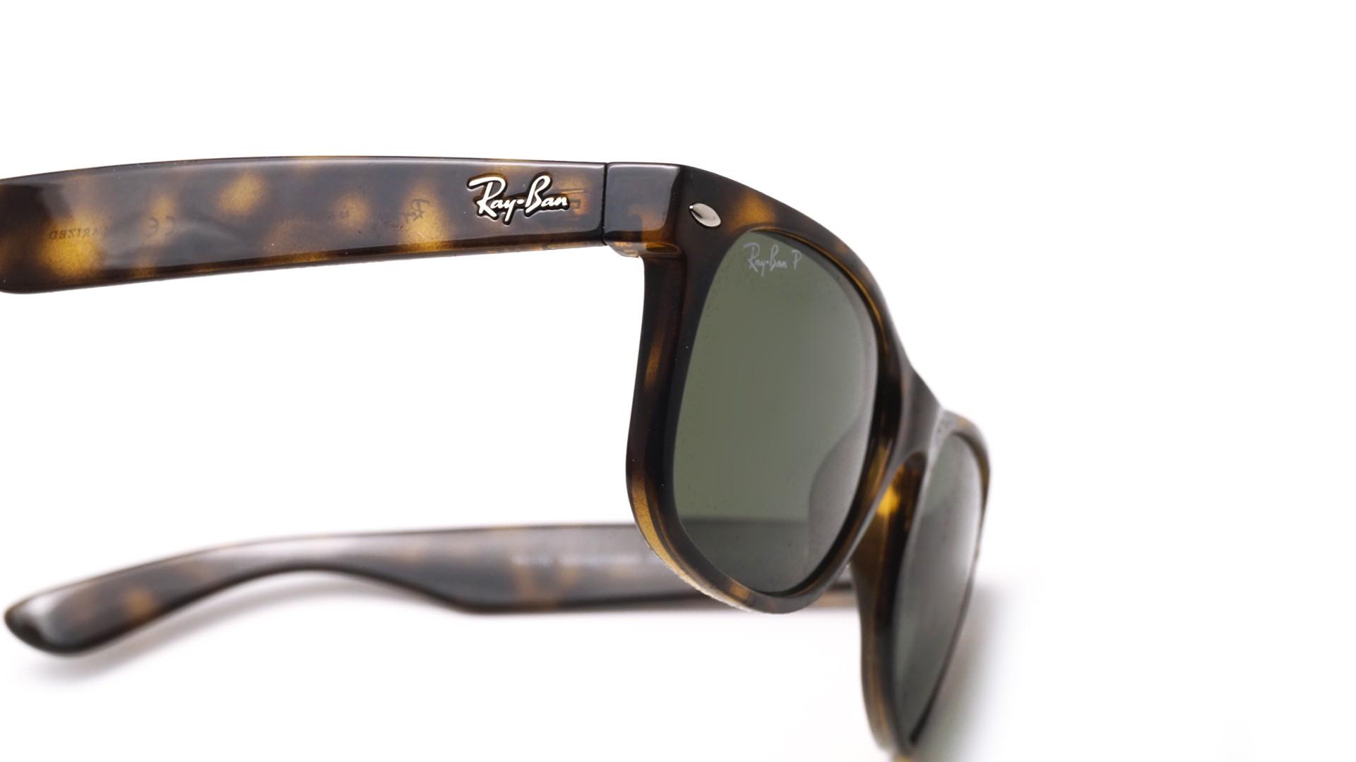 e8857fb3efe Sunglasses Ray-Ban New Wayfarer Tortoise RB2132 902 58 55-18 Large Polarized