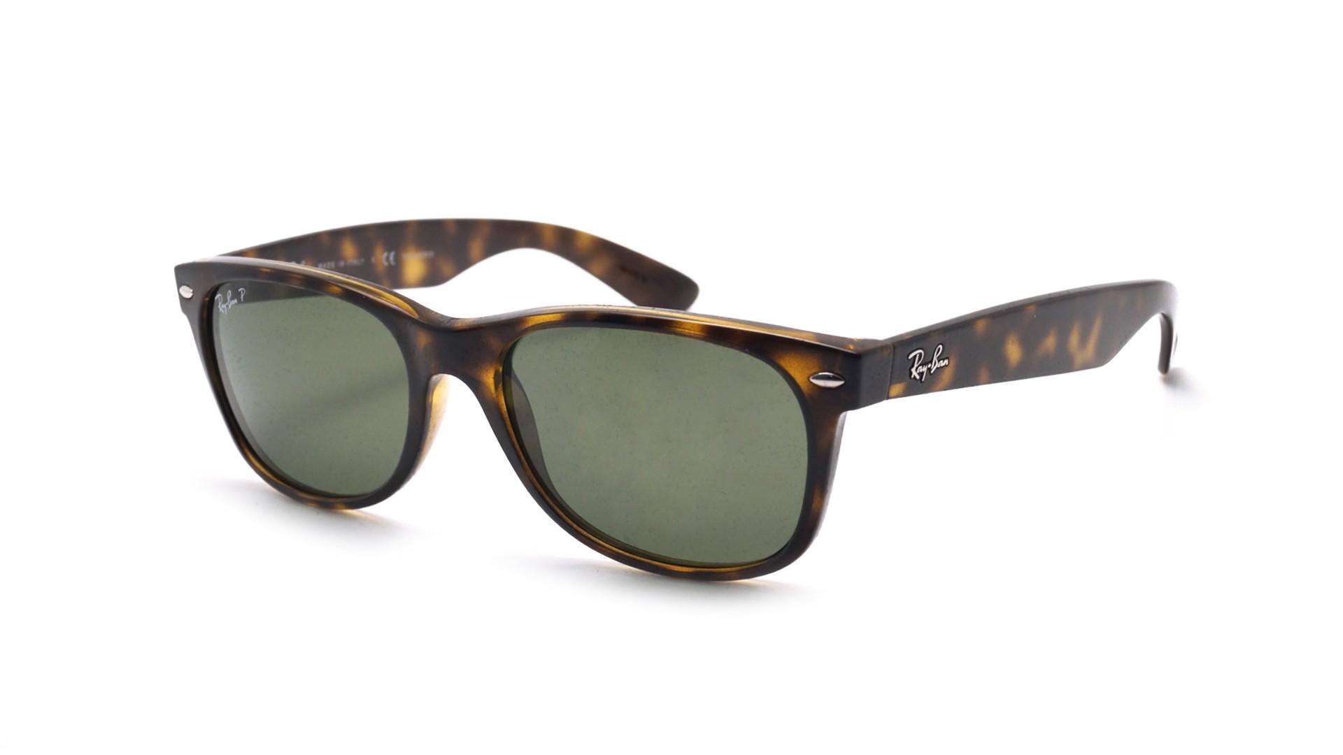 156c05357d Sunglasses Ray-Ban New Wayfarer Tortoise RB2132 902 58 52-18 Small Polarized
