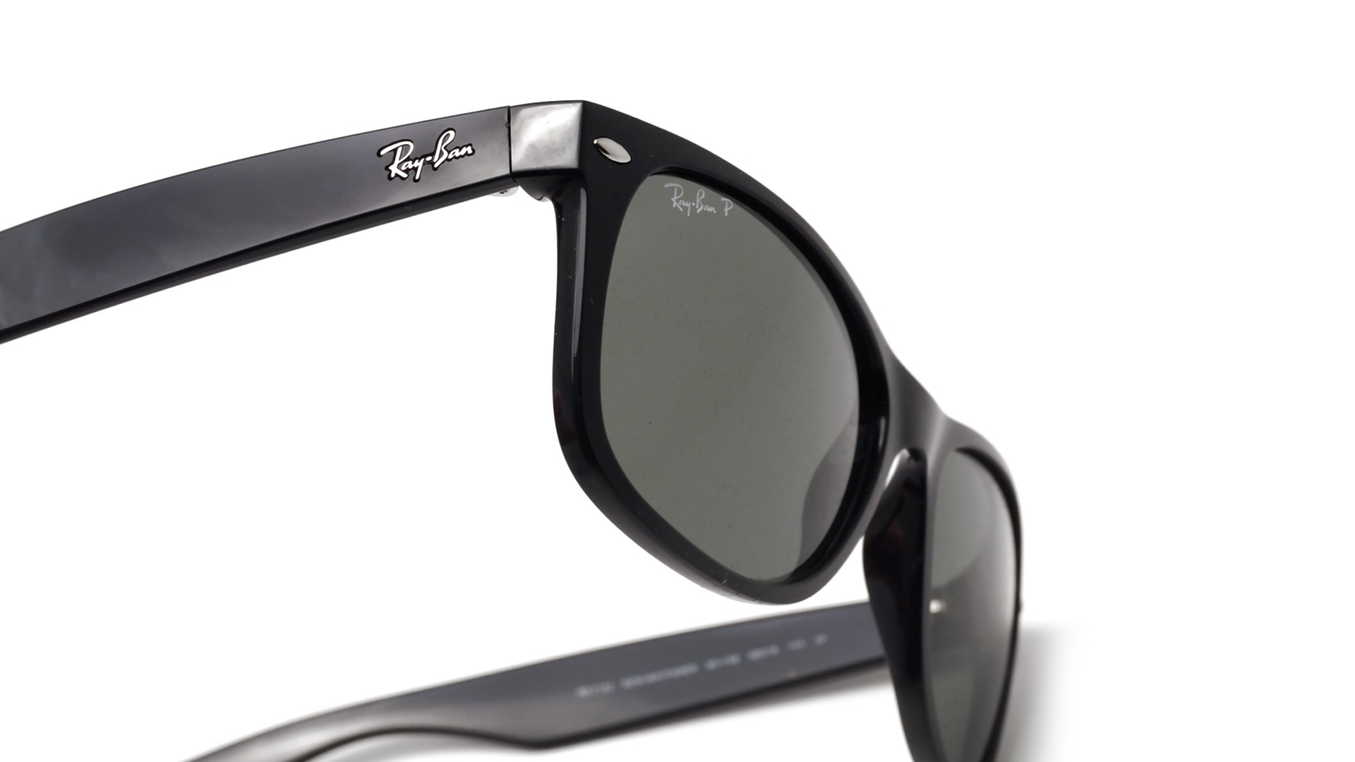 6cf65fa2ead0 Sunglasses Ray-Ban New Wayfarer Black RB2132 901 58 58-18 Large Polarized