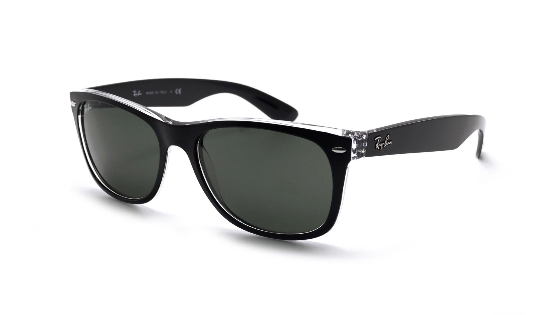 39895985e0d Sunglasses Ray-Ban New Wayfarer Black Matte G-15 RB2132 6052 58-18 Large