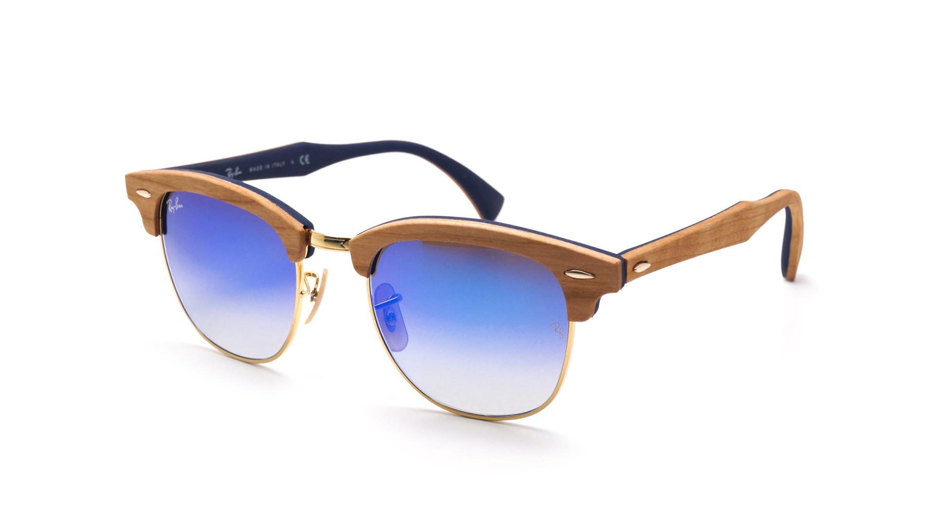 262d4d41b2 Sunglasses Ray-Ban Clubmaster Wood Brown Matte RB3016M 11807Q 51-21 Medium  Gradient Mirror