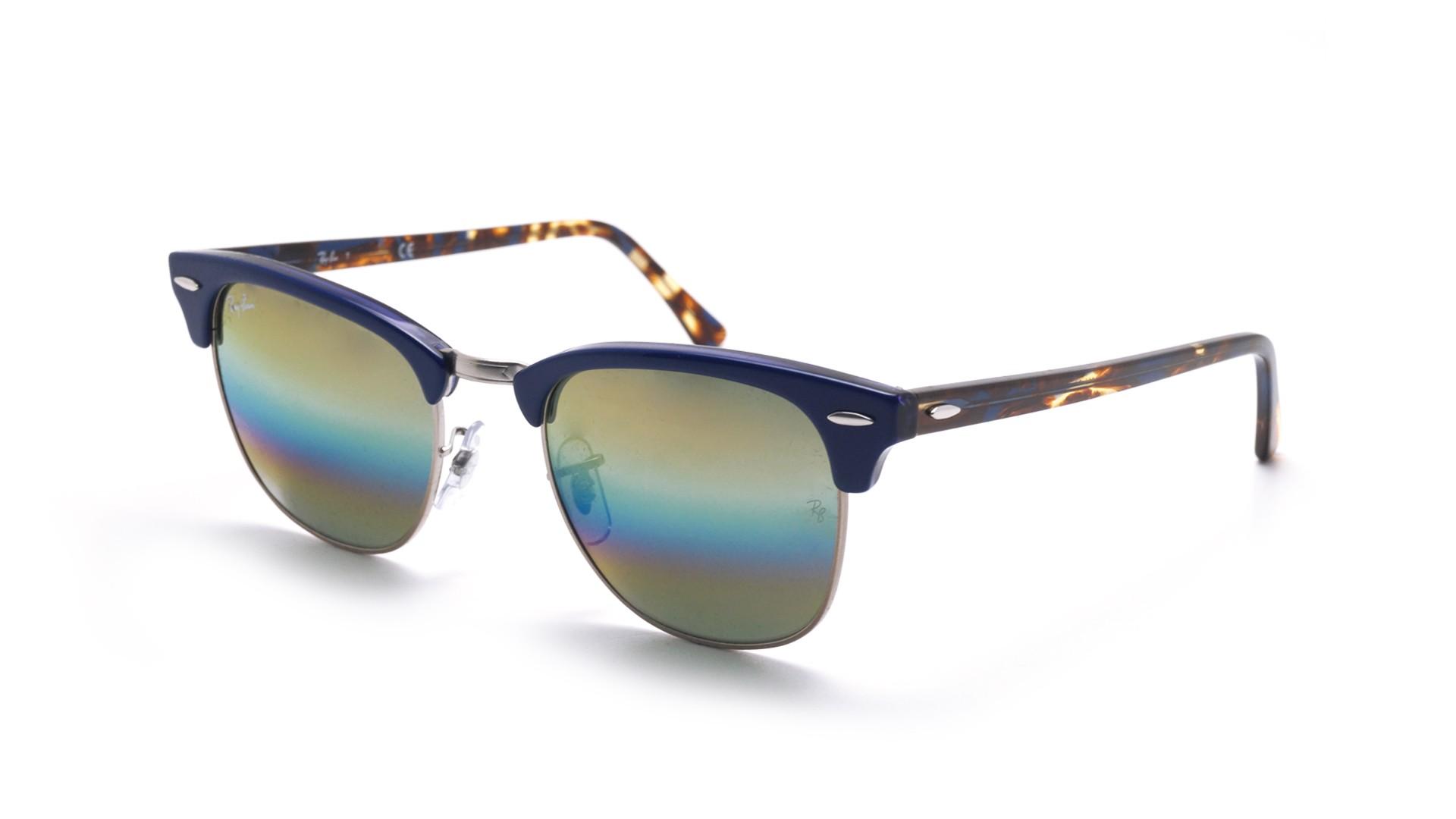 Sunglasses Ray-Ban Clubmaster Blue RB3016 1223 C4 51-21 Medium Gradient  Mirror 2a436b7580dd