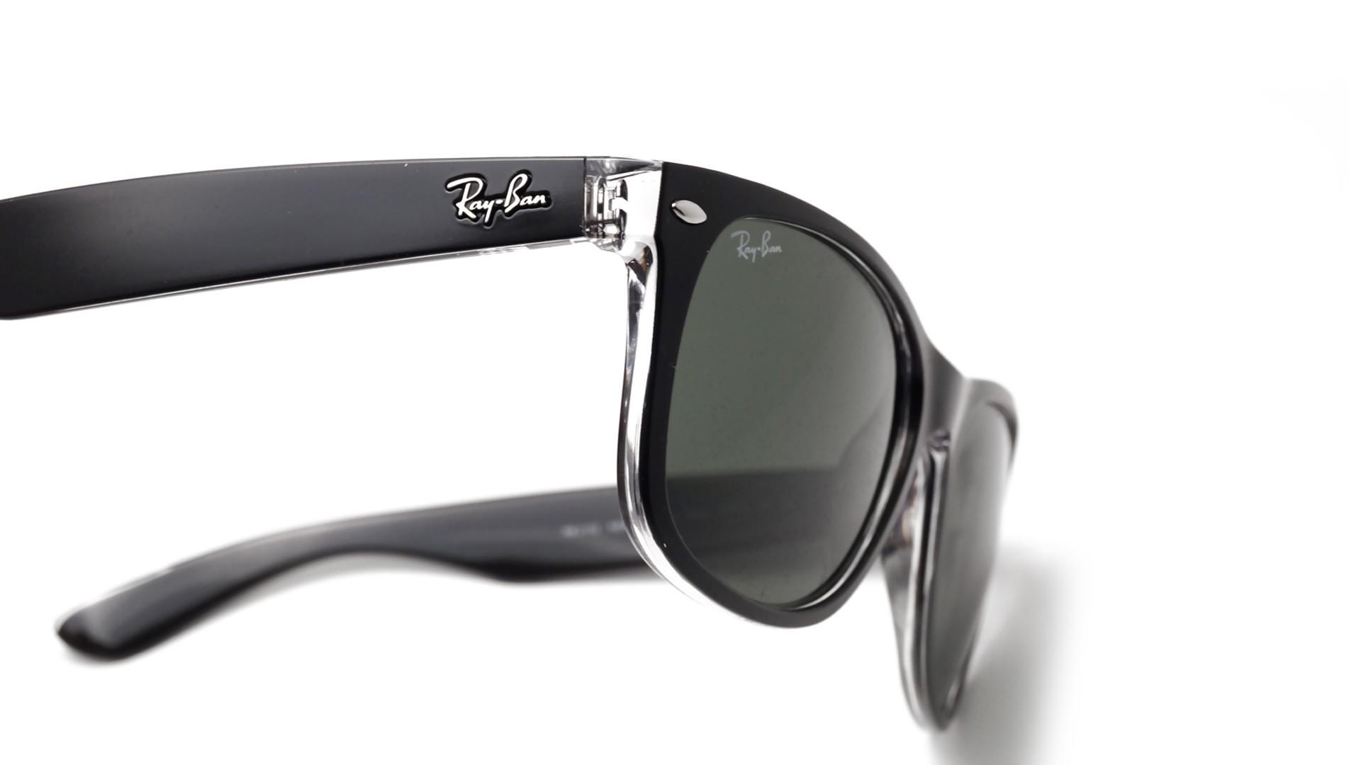 ae88659b8c4 Sunglasses Ray-Ban New Wayfarer Black RB2132 6052 55-18 Large