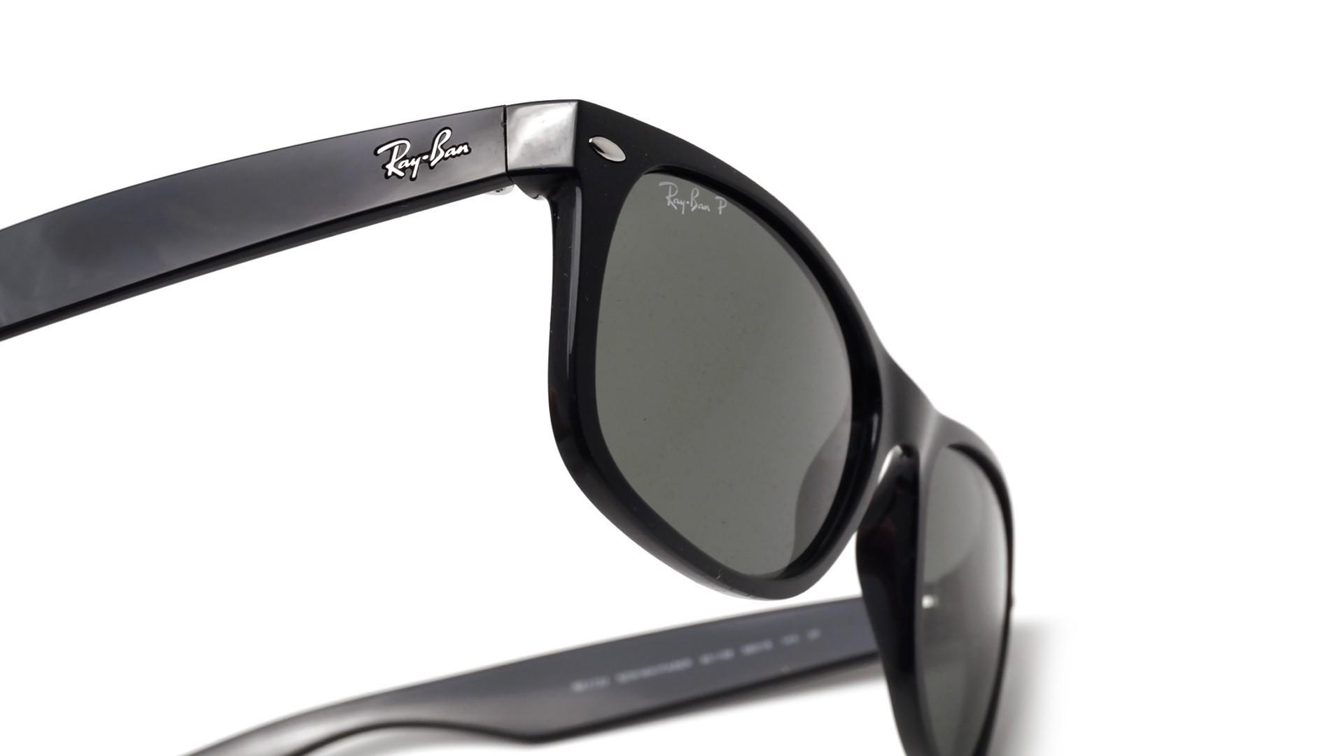 Sunglasses Ray-Ban New Wayfarer Black RB2132 901 58 55-18 Large Polarized a3578cc4945f